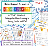 Kindergarten Home Support Week 2