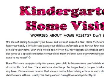 Kindergarten Home Visit Packet