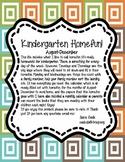 Kindergarten Homefun **100% Common Core Aug-Dec