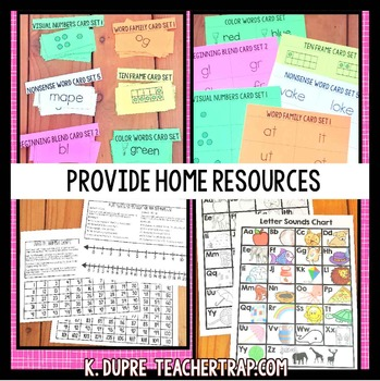 Kindergarten Homework EDITABLE