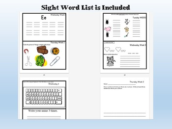 Homework Packets Kindergarten Editable for the YEAR! Supports Common Core