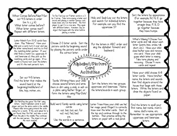 Kindergarten Homework Activity Envelopes