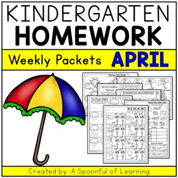 Surprising Kindergarten Homework April English Only Aligned To Cc Download Free Architecture Designs Scobabritishbridgeorg