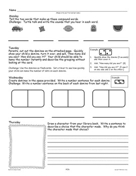 Kindergarten Homework: April Home Sweet Homework