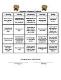 Kindergarten Homework Calendars September December Differentiated Math Literacy