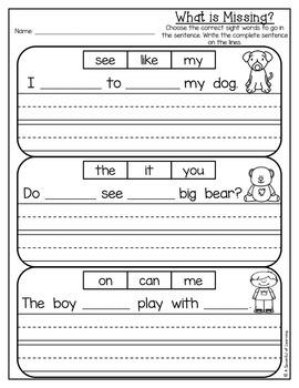 Kindergarten Homework- February (English Only) Aligned to CC