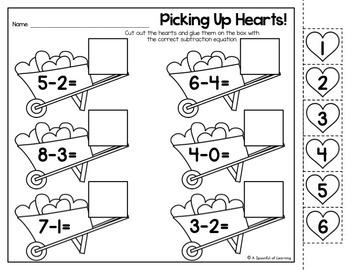 Kindergarten Homework- February (English & Spanish Directions) Aligned to CC