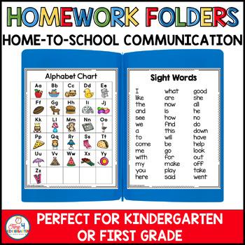 Homework Folders Take Home Parent Communicator