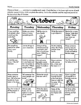Kindergarten Homework: Fun Learning Activities for Each Month