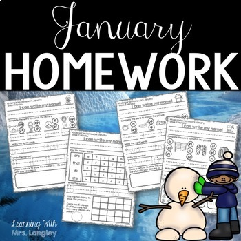 Kindergarten Homework JANUARY