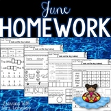 Kindergarten Homework JUNE