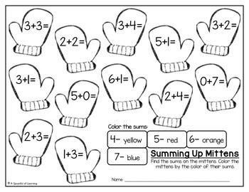 Kindergarten Homework- January (English Only) Aligned to CC
