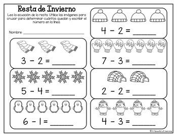 Kindergarten Homework- January (English & Spanish Directions) Aligned to CC