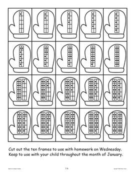 Kindergarten Homework: January Home Sweet Homework
