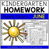 Kindergarten Homework- June (English & Spanish Directions)