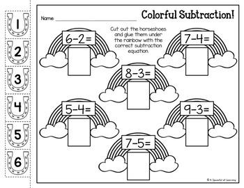 Kindergarten Homework- March (English Only) Aligned to CC