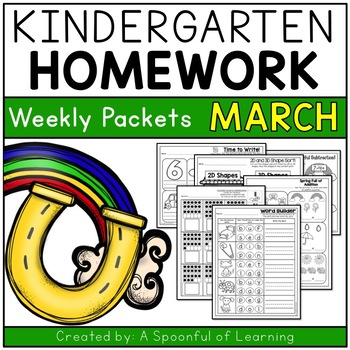 Cool Kindergarten Homework March English Only Aligned To Cc Download Free Architecture Designs Scobabritishbridgeorg