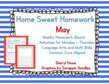Kindergarten Homework: May Home Sweet Homework