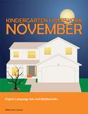 November Homework or Class Activities - Kindergarten & Fir