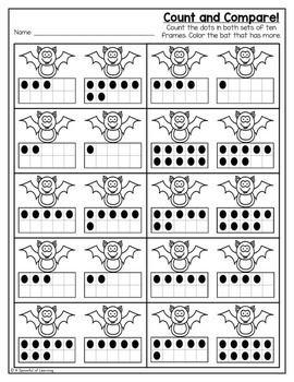 Kindergarten Homework- October (English Only) Aligned to CC