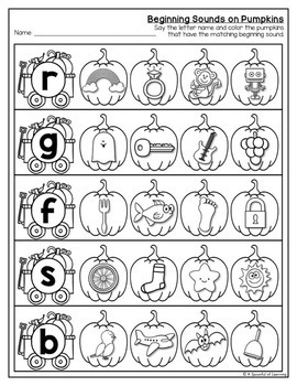 Kindergarten Homework- October (English Only) Aligned to CC