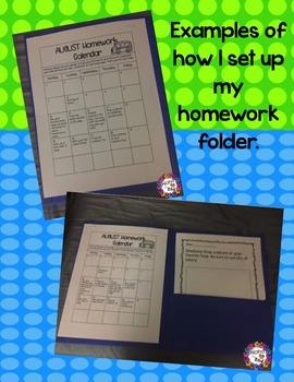 Kindergarten Homework Pack 2016-2017