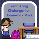 Kindergarten Homework Pack 2016-2017