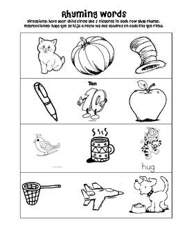 Kindergarten Homework Packet 10