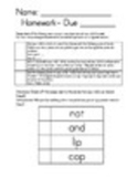 Kindergarten Homework Packet 3