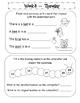 Kindergarten Homework Packet April *Common Core*