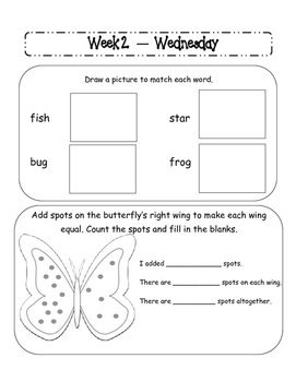 Kindergarten Homework Packet April *Common Core*