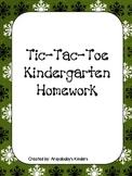Kindergarten Homework Packet December