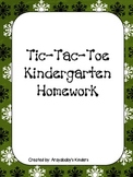 Kindergarten Homework Packet December