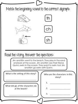 Kindergarten Homework Packet - February - English and Spanish - Aligned to CC