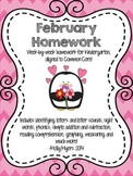 Kindergarten Homework Packet - February - English and Span