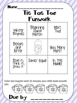 Kindergarten Homework Packet January#2