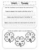 Kindergarten Homework Packet March *Common Core*