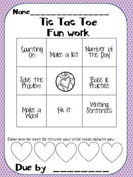 Kindergarten Homework Packet-May