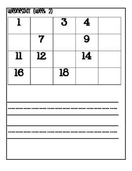 Kindergarten Homework Packet (Sept. - Dec)