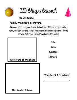 Kindergarten Homework Pages