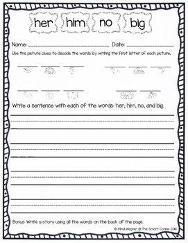 Kindergarten Homework - Quarter 3