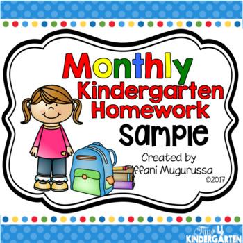 Kindergarten Homework Sample