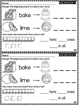 Kindergarten Homework Wonders Edition: Unit 10