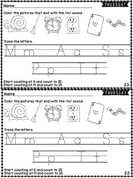 Kindergarten Homework Wonders Edition: Unit 2