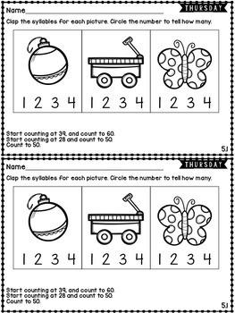 Kindergarten Homework Wonders Edition: Unit 5