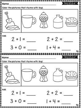 Kindergarten Homework Wonders Edition: Unit 9