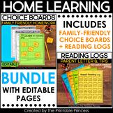 Kindergarten Homework Year Long Bundle