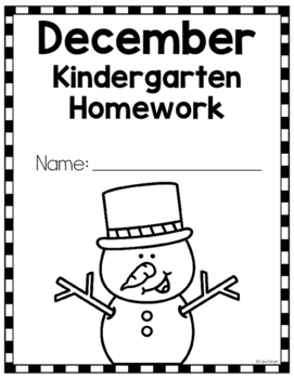 Kindergarten Homework for December