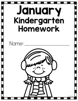Kindergarten Homework for January