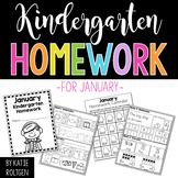 Kindergarten Homework for January